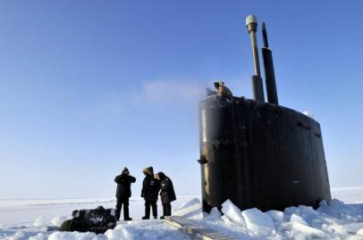 U.S.S. Annapolis nuclear attack submarine in the Arctic, 2009. (Photo courtesy of US Navy)